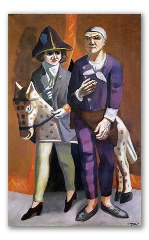 """Cuadro """"El artista y su esposa"""""""