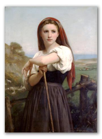 """Retrato """"Joven pastora"""""""
