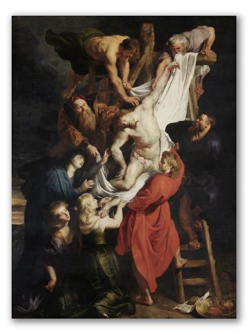 """Cuadro """"El descendimiento de la cruz"""""""