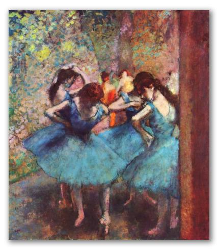 """Obra """"Bailarinas de azul"""""""
