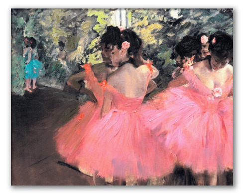 """Obra """"Bailarinas de rosa"""""""