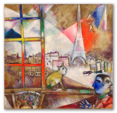 "Obra ""París a través de la ventana"""