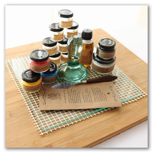 Set para fabricar pinturas al óleo.