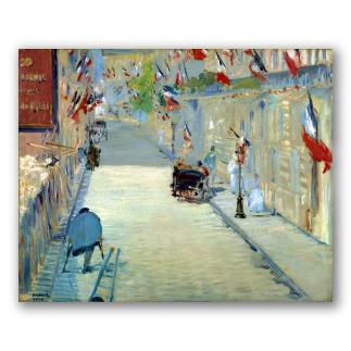 La Rue Mosnier con Banderas