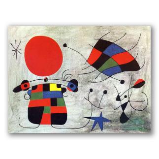 La Sonrisa de Alas Flameantes - Miró