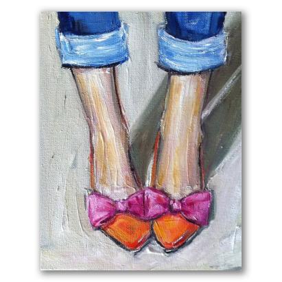 Zapatitos chic, cuadro femenino