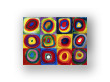 """Cuadro """"Estudio de color con cuadrados"""""""